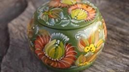 Шкатулка-браслет «Хризантема-оранж»