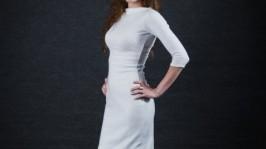 Теплое ангоровое платье Daintiness
