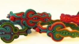 Браслет сутажный радуга