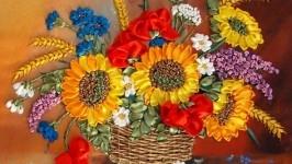 Корзина летних цветов