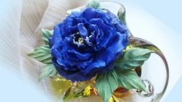 Роза из шелка Фиолетовое вдохновение