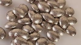 Пластиковые метализированые бусины