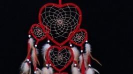 Ловец снов Red Dreams - красные сердца