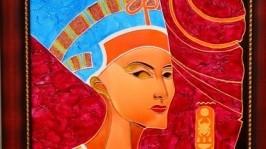 Витражная картина Нефертити - царица Египта