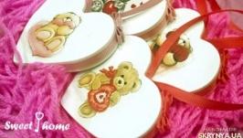 Валентинки Влюбленные мишки