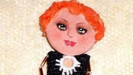 брошь кукла Ляля