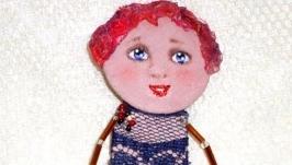 брошь кукла Мила