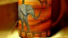 Декоративная бутылка Жаркая Африка