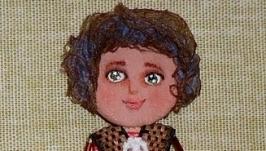 брошь кукла Тина