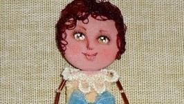брошь кукла Мими