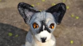Валяный котик породы сфинкс. Войлок, ручная работа Нand made