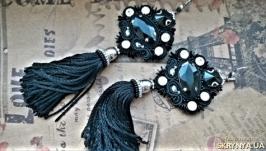Сутажные серьги – кисточки «Оля-ля»