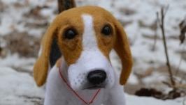 Бигль Тимофей, взрослый пес. Копия животного. Валяние