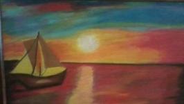 Картина написана пастельними тонами