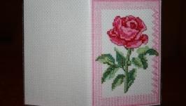Обложка на паспорт Роза