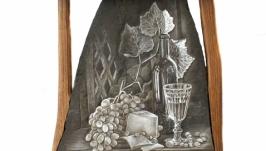 Натюрморт «Вино, виноград и сыр»