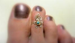Кольцо на палец ноги Незабудка