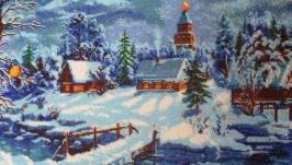 Картина вышитая бисером Сказочная зима