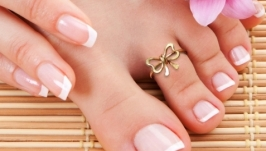 Кольцо на палец ноги `Бантик`