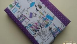 Блокнот ручной работы Парижанка с новой сумочкой