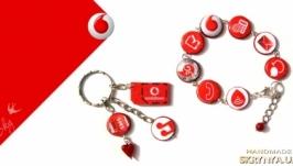 Браслет с символикой, логотипами (Водафон, Vodafone)