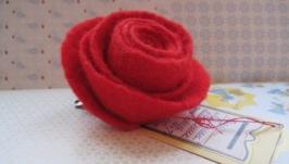 Брошь-цветок роза Кармен