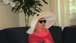 Шляпа шикарная, летняя  лен 100%