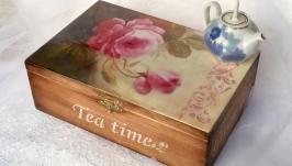 Чайный короб Розы2