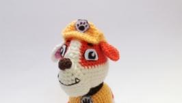 Вязаный щенок Крепыш из Щенячего патруля