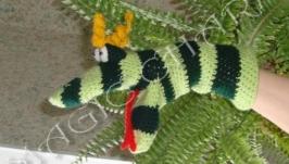 Игрушка-рукавичка Змейчик