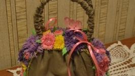 Сумочка с цветами из фоамирана