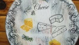 Разделочная доска сыр маленькая