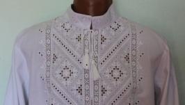Чоловіча вишиванка білим по білому