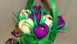 Квіти з цукерками