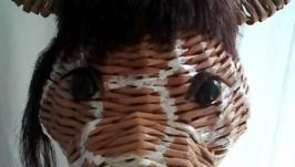 Плетеный жираф - шкатулка