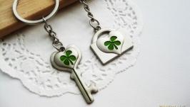 Брелоки для влюбленных «Ключ и замок»