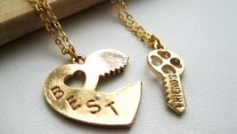 Парные кулоны для друзей «Best friends»