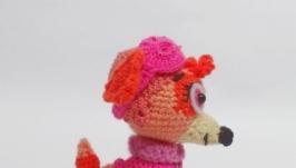Вязаный щенок Скай из Щенячего патруля