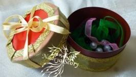 Как сделать круглую подарочную коробочку.