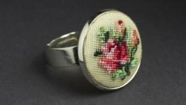 Кольцо ручной работы Букет Нежных Роз