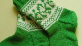 Носки зеленые, весенние