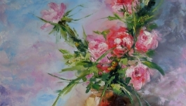 Картина маслом Аромат чайных роз