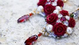Позолоченные серьги по мотивам Dolce  Gabbana Rush