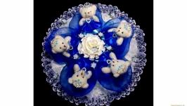 ′Королевна′, Букет из мягких игрушек, диаметр 40см.