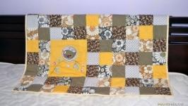 Детское лоскутное одеяло пэчворк для детской кроватки или коляски
