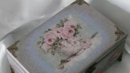 Шкатулка Old english roses с 6 отделениями