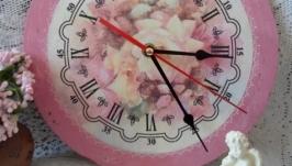 Часы Розовый винтаж