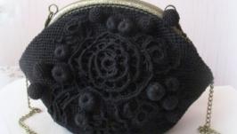 Сумочка Роза черная