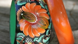 Браслет Оранжевая хризантема