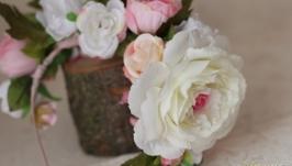 Обідок Троянди та піони